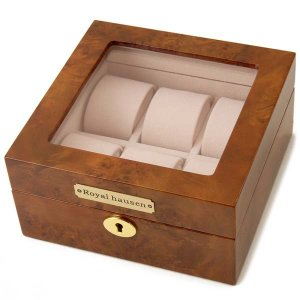 ロイヤルハウゼン 時計収納ケース 腕時計 6本収納 ケース Royal hausen GC02-LG3-06 ウォッチケース ブラウン 時計雑貨|s-select