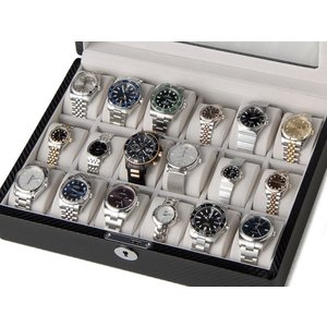 ロイヤルハウゼン 時計収納ケース 腕時計 18本収納 ケース Royal hausen GC02-TP-18 ウォッチケース ブラック 時計雑貨|s-select