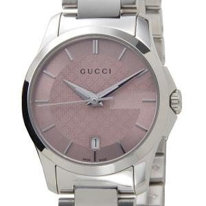 グッチ GUCCI 腕時計 レディース YA126524 G-タイムレス クォーツ ピンク×シルバー 新品|s-select