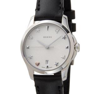 グッチ GUCCI 時計 YA126574 G-Timeless Gタイムレス シルバー 革ベルト レディース 腕時計【送料無料】|s-select