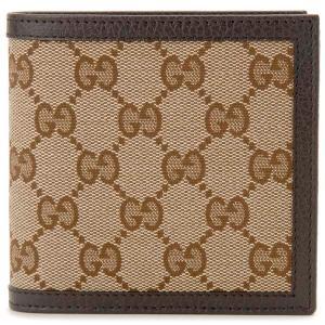 クリアランスセール グッチ GUCCI (アウトレット) 二つ折り財布 メンズ ブラック 150413 KY9LN 9903 GGキャンバス×レザー|s-select