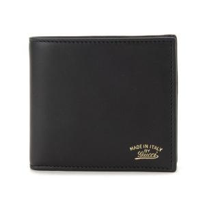 グッチ GUCCI 二つ折り財布 308790AP00G1000 ブラック メンズ ブランド|s-select