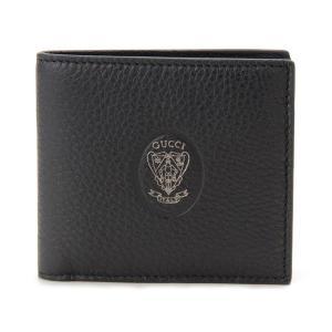 グッチ GUCCI 財布 336447A7M0R1000 二つ折り財布 クレストディティール ブラック ブランド|s-select