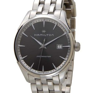 ハミルトン HAMILTON メンズ 腕時計 JAZZ MASTER ジャズマスター ジェント メタル グレー H32451181|s-select