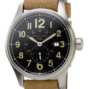ハミルトン HAMILTON メンズ腕時計 H70655733 カーキ オフィサー オート 文字盤×...