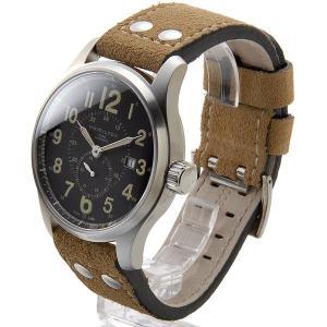ハミルトン HAMILTON メンズ腕時計 H70655733 カーキ オフィサー オート 文字盤×ベルト:ブラック×ベージュ ブランド|s-select|02