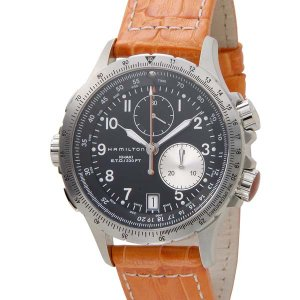 ハミルトン HAMILTON メンズ 腕時計 KHAKI ETO カーキ アビエイション ブラック×オレンジ H77612933|s-select