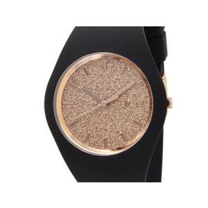 アイスウォッチ ICE WATCH 001353 Ice Glitter アイス グリッター 40mm ローズゴールド×ブラック ユニセックス メンズ レディース 腕時計 新品|s-select