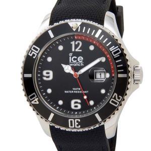 アイスウォッチ ICE WATCH アイス スティール ラージ 48mm ブラック 黒 015773 メンズ 腕時計|s-select