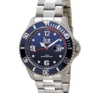 アイスウォッチ ICE WATCH アイス スティール ラージ 48mm マリン ブルー 青 015775 メンズ 腕時計|s-select