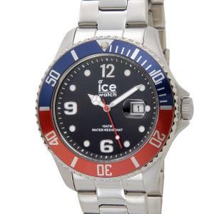 アイスウォッチ ICE WATCH アイス スティール ラージ 48mm ユナイテッド ブルー×レッド 016547 メンズ 腕時計|s-select