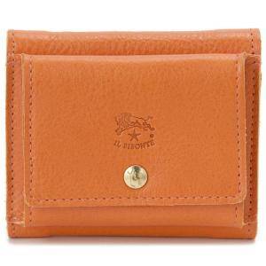 イルビゾンテ IL BISONTE 三つ折り財布 C0940 P 166 レザー 財布 オレンジ メンズ レディース 新品【送料無料】|s-select