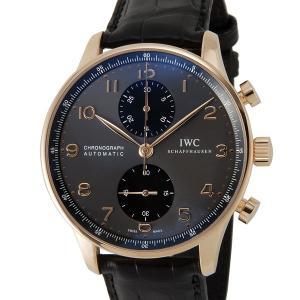 IWC ポルトギーゼクロノ IW371482 クロノグラフ インターナショナルウォッチカンパニー メンズ 腕時計 グレー×ブラック ブランド|s-select