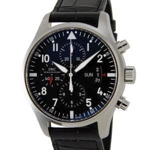 IWC パイロットウォッチ IW377701 クロノグラフ インターナショナルウォッチカンパニー メンズ 腕時計 ブラック 革ベルト|s-select