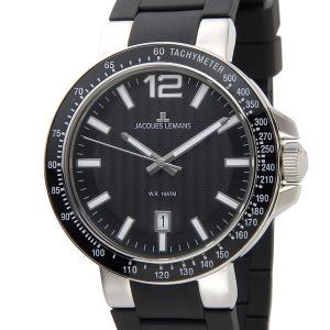 令和セール ジャックルマン JACQUES LEMANS メンズ 腕時計 1-1695A ケビンコスナー・アンバサダー・モデル ミラノ ラバーベルト 新品|s-select