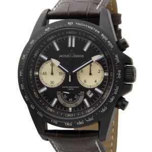 ジャックルマン 腕時計 メンズ JACQUES LEMANS 1-1756E リバプール 48mm クロノグラフ ブラック ブランド【送料無料】|s-select