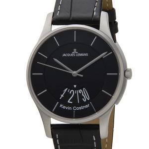 ジャックルマン 日本限定モデル メンズ 腕時計 11-1746G-1 JACQUES LEMANS ケビンコスナー・コレクション ロンドン デイト 革ベルト ブランド|s-select