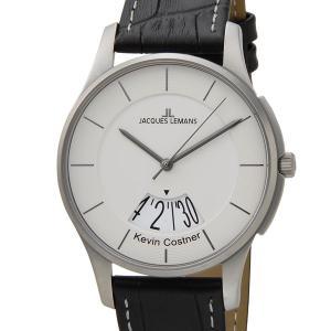 ジャックルマン 日本限定モデル メンズ 腕時計 11-1746H-1 JACQUES LEMANS ケビンコスナー・コレクション ロンドン デイト 革ベルト ブランド|s-select