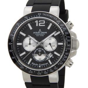 ジャックルマン 日本限定モデル メンズ 腕時計 11-1768A-1 JACQUES LEMANS ケビンコスナー・コレクション ミラノ クロノグラフ ラバー ブランド|s-select