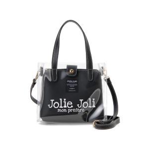 ジョリージョリ Jolie Joli ハンドバッグ JJ-2019CL3250-001 ビニール クリア バッグ 2WAYショルダーバッグ レディース ブラック|s-select