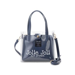ジョリージョリ Jolie Joli ハンドバッグ JJ-2019CL3250-020 ビニール クリア バッグ 2WAYショルダーバッグ レディース ネイビー|s-select