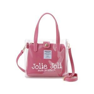ジョリージョリ Jolie Joli ハンドバッグ JJ-2019CL3250-100 ビニール クリア バッグ 2WAYショルダーバッグ レディース ピンク|s-select