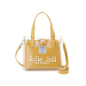 ジョリージョリ Jolie Joli ハンドバッグ JJ-2019CL3250-400 ビニール クリア バッグ 2WAYショルダーバッグ レディース イエロー|s-select