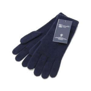 ジョンストンズ 手袋 Johnstons HAD3226 D0707 カシミア100% グローブ ネイビー メンズ レディース 新品|s-select