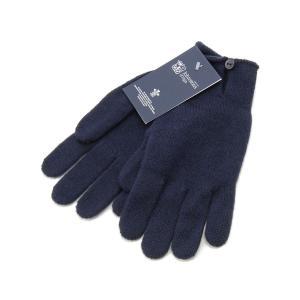ジョンストンズ 手袋 Johnstons HAY2241 SD0707 カシミア100% グローブ ネイビー レディース 新品|s-select