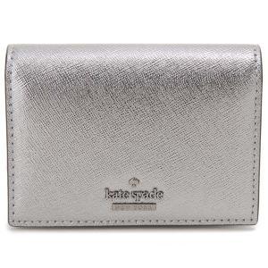 ケイトスペード Kate Spade カードケース パスケース 定期入れ コインケース シルバー PWRU6437 073|s-select