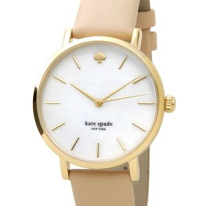 ケイトスペード kate spade 時計 1YRU0073 メトロ ホワイトシェル×ピンクベージュ革ベルト レディース 腕時計 s-select