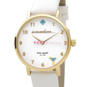 ケイトスペード kate spade 時計 1YRU0765 メトロ ハッピーアワー ホワイト×ゴールド レディース 腕時計|s-select