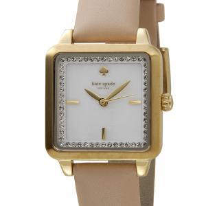 ケイトスペード kate spade レディース 腕時計 KSW1113 ワシントン スクエア ホワイトシェル/ゴールド/ベージュ|s-select