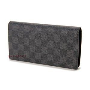 ルイヴィトン LOUIS VUITTON N62665 ダミエ グラフィット ポルトフォイユ ブラザ 長財布 ブランド|s-select