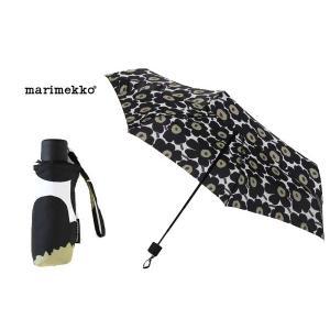 マリメッコ Marimekko 折り畳み傘 038653-030 ウニッコ柄/ホワイト×ブラック 雨具/レイングッズ ブランド|s-select