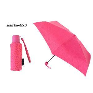 マリメッコ Marimekko 折り畳み傘 038655-122 ドット柄(ピルプトパルプト柄)/ピンク 雨具/レイングッズ ブランド|s-select