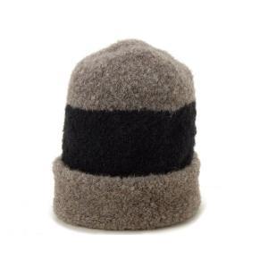 マリメッコ Marimekko ニット帽 41613-980 ニット モコモコ ニットキャップ ブラック/ベージュ メンズ レディース ブランド|s-select