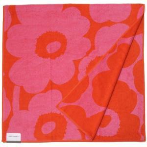 Marimekko マリメッコ ブランケット バスタオル 63629-330 ウニッコ 150cm×75cm レッド×ピンク 新品|s-select
