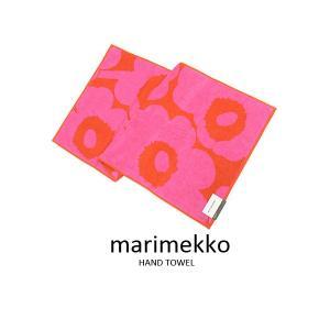 マリメッコ Marimekko ハンドタオル 63630-330 UNIKKO ウニッコ フェイスタオル レッド×ピンク ブランド|s-select
