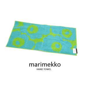マリメッコ Marimekko ハンドタオル 63630-650 UNIKKO ウニッコ フェイスタオル ターコイズ×ライム ブランド|s-select