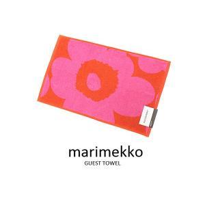 マリメッコ Marimekko ゲストタオル 63631-330 UNIKKO ウニッコ フェイスタオル レッド×ピンク 新品|s-select