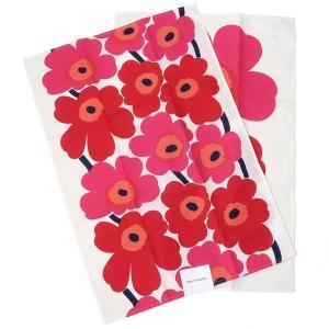 Marimekko マリメッコ ティータオル 66943-001 ウニッコ キッチンクロス 台ふきん レッド 新品|s-select