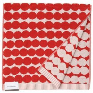 Marimekko マリメッコ バスタオル 68760-130 ラシィマット ドット柄 100cm×50cm レッド 新品|s-select
