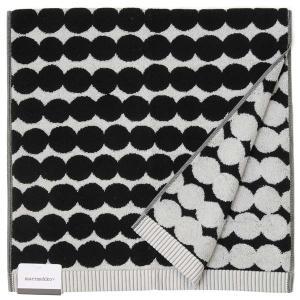 Marimekko マリメッコ バスタオル 68760-190 ラシィマット ドット柄 100cm×50cm ブラック 新品|s-select
