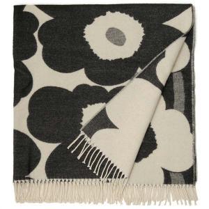 Marimekko マリメッコ ブランケット 68994-190 166cm×131cm ウニッコ 大判 ブラック 北欧|s-select