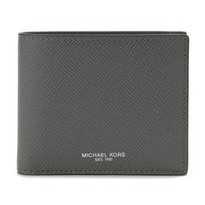 マイケルコース 二つ折り財布 Michael Kors 39F5LHRF3L 017 グレー メンズ|s-select