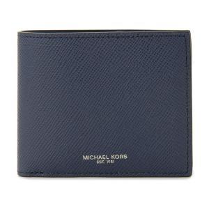 MICHAEL KORS マイケルコース 二つ折り財布 39F5LHRF3L 406 ネイビー メンズ|s-select