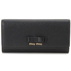 令和セール ミュウミュウ MIU MIU 長財布 5MH109 3R7 F0002 本革 リボン 財布 ブラック レディース【送料無料】|s-select