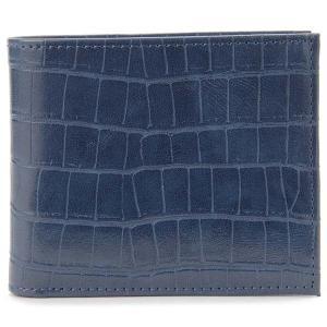 monte SPIGA モンテスピガ 二つ折り財布 MOSQS371ANV クロコ型押し ブルー メンズ 新品 s-select