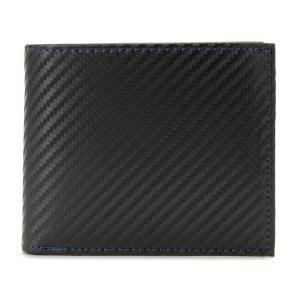 monte SPIGA モンテスピガ 二つ折り財布 MOSQS371BBKBL カーボン調 ブラック×ブルー メンズ|s-select